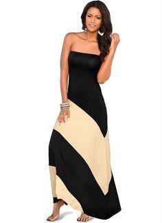 Vestido Longo Preto - Posthaus $119,90