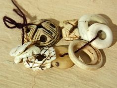 Old Conus Shell beads