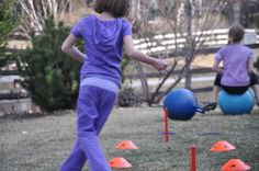 outside obstacle course for kids (backyard)
