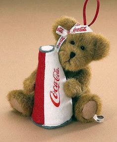 "Boyds Bear ""Nancy"" 6.5"" Coca-Cola® Plush Ornament- #919965 - NWT- Retired"