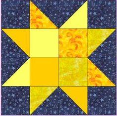 16 Patch Sawtooth Star...12 1/2 inch block | Free..... Quilt Block ... : 4 quilt block patterns - Adamdwight.com