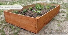 No need to spend hundereds of dollars on a raised cedar garden bed when you can DIY your own for under $15!