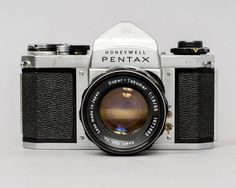 """($40.00) The Asahi Pentax H3V is a 35mm SLR that was made in the mid 1960's. It's a fully mechanical camera and requires no batteries for operation. This particular H3V functions well, and is in great cosmetic condition. The shutter works on all speeds and sounds accurate to my ear (The """"Time"""" setting sticks, but you can just use """"Bulb"""" mode instead). Film advances and rewinds properly."""