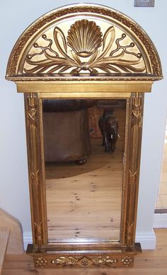Continental Carved Giltwood Mirror, probably Swedish, FOR SALE at the Bruton Decorative Fair, 14 -16 October, see http://www.domani-devon.com/stock/mirrors/south-italian-carved-giltwood-mirror