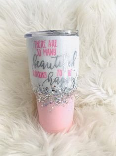 Jeep Wrangler Discover Beautiful reasons to be happy white to pink ombre glitter tumbler/ Mom glitter tumbler/ Glitter ombre tumbler/ rainbow glitter tumbler white to pink ombre glitter tumbler/ Mom glitter tumbler/ Diy Tumblers, Personalized Tumblers, Custom Tumblers, Glitter Tumblers, Mom Tumbler, Tumbler Quotes, Coffee Tumbler, Coffee Cup Crafts, Tumblr Cup