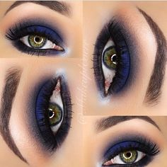 Navy Blue Eyeshadow Look