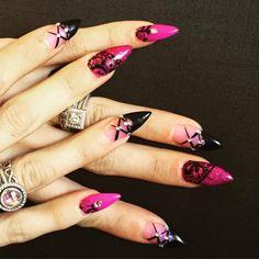 Corset-Nail-Art-for-Long-Nails Tuxedo Nail Art and Beautiful Corset Nail Nail Art  Tuxedo Nail