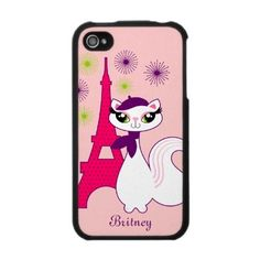 Pretty Kitty Paris iPhone 4 Case