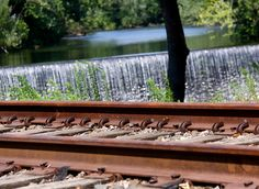 Fishkill Creek Waterfalls & Railroad Tracks - Beacon, NY, via Flickr.