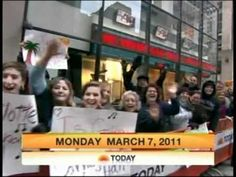 Alpha Xi Deltas at the TODAY show on International Badge Day in 2011.