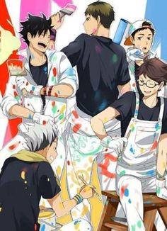 Bokuto I see what you did.. on ushijima's ass xD