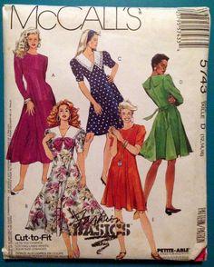 Vintage Fit & Flare Dress McCalls 5743 MIsses by SanctuaryofStyle