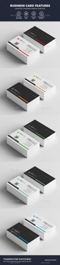 Modern Business Card Template - Business Cards Print Templates Download here: https://graphicriver.net/item/modern-business-card-template/19994466?https://graphicriver.net/item/creative-pro-business-card-v5/19994826?ref=classicdesignp
