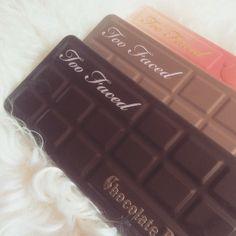too faced - chocolate bar - sweet peach - makeup - eyeshadow palette - @makemeshiny instagram
