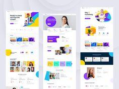 E-Learning Platform by Mohammad shohag 🐙 West Coast University, Wireframe Design, Joomla Templates, Adobe Xd, Job Opening, Branding Design, Web Design, Platform, Learning
