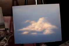 How to paint Acrylic Clouds in the Sky! A basic speed painting tutorial ...