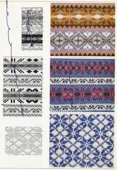 Handknit Pattern Collection Knitting and Crochet Book Fair Isle Knitting Patterns, Knitting Stiches, Knitting Charts, Knit Patterns, Free Knitting, Stitch Patterns, Sock Knitting, Knitting Tutorials, Knit Stitches