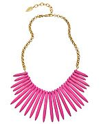 David Aubrey Pink Turquoise Spike Bib Necklace