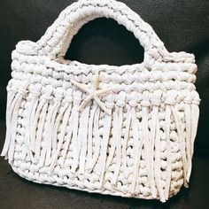 3時間で編めるTシャツヤーンのバッグの作り方|編み物|編み物・手芸・ソーイング|作品カテゴリ|ハンドメイド・手芸のレシピ、作り方ならアトリエ