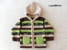 LujzaMarko / Kabátik s kapucňou - ihneď k odberu veľ. 80 - 86