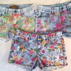 Shorts jeans estampados!