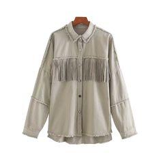 Oversized Frayed With Fringe Denim Jacket Short Denim, Streetwear, Denim Bomber Jacket, Beaded Jacket, Collars For Women, Oversized Jacket, Outerwear Women, Jeans, Tassel