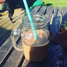 This smoothie recipe combines fruit, nuts and also a large spoonful of our whey protein powder, making it great for pre or post workouts! #smoothie #protein #proteinpowder #whey #wheyprotein #wheyisolate #recipe