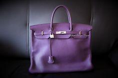 My Hermès Birkin in Ultraviolet Clemence leather. Hermes Birkin, Ultra Violet, My Photos, Leather, Bags, Handbags, Bag, Totes, Hand Bags