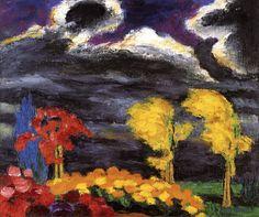 dappledwithshadow: Autumn Glow, Emil Nolde 1925