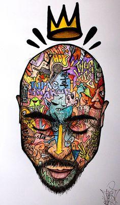 55 Ideas Tattoo Hip Hop Graffiti Art For 2019 Tupac Wallpaper, Graffiti Wallpaper, Arte Do Hip Hop, Hip Hop Art, Arte Dope, Dope Art, Cartoon Kunst, Cartoon Art, Graffiti Art