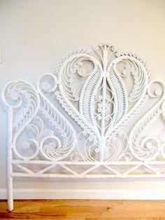 Boho Wicker Headboard White by FreewheelFinds on Etsy https://www.etsy.com/listing/269172290/boho-wicker-headboard-white?ref=shop_home_feat_2
