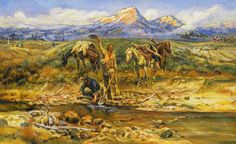 Discovery of Last Chance Gulch by Charles Marion Russell