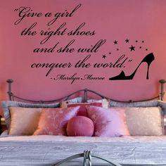 Marilyn Monroe's beroemde woorden over vrouwen en schoenen.