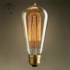 This item is now available in our shop.   Light bulb silk e27 vintage light source tungsten wire decoration bulb - US $7.59 http://golightingshop.com/products/light-bulb-silk-e27-vintage-light-source-tungsten-wire-decoration-bulb/
