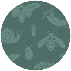 Teagan White for Birch Organic Fabrics, Acorn Trail, CANVAS, Tonal Bugs Blue