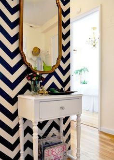 Idk why but this Chevron wall makes me so excited...Also the mirror