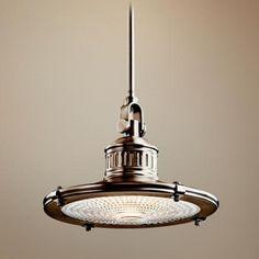 Kichler Sayre Collection Antique Pewter Pendant Light - #N2143 | LampsPlus.com $249