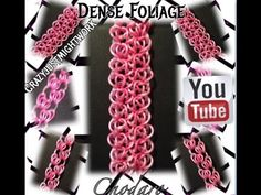 Rainbow Loom Dense Foliage Bracelet How To/ Tutorial Designed by Instagram Crazyjustmightwork (YouTube Suzanne H-B)