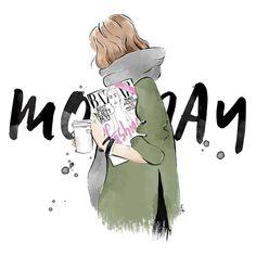 But first...coffee ☕ happy Monday beauties   .  .  #monday #coffee #fashion #artfashion #illustration #fashionsketch #sketch #digitalillustration #work #blogger #thatsdarling #beautie #girl #minimal #inspo #styled #artist #ootd #harpersbazaar #magazine
