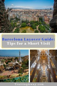 Does your flight mean a long Barcelona layover? Here are our tips for seeing some highlights (like Sagrada Familia and Park Guell) with limited time and money!    #parkguell #sagradafamilia #barcelona #layover #traveltips via @trailingaway