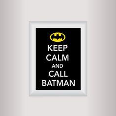 Batman Decor Art / Keep Calm Art Print / Living by affinityforyou, $10.00