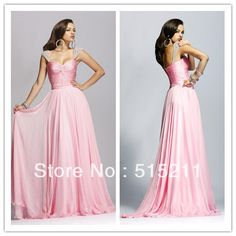 Custom-madeCustom Made Modest Beading Cap Sleeves Ruched Sweetheart Pink Chiffon Long Evening Gown