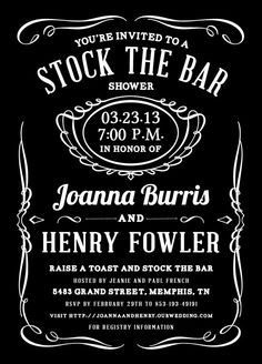 Stock the Bar shower- You throw an engagement party and ask all of your friends & family to come and celebrate and bring their favorite bottle of whatever they like - serve it all on your wedding night! No out of pocket costs for the bride & groom...