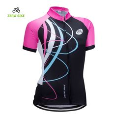 ZEROBIKE Women s Short Sleeve Cycling Jersey Jacket Cycling Shirt Quick Dry  Breathable Mountain Clothing Bike Top. Material  Jersey 100% Polyester. 3caee42cd