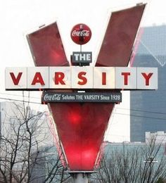 The Varsity is the country's biggest drive-in restaurant, serving in the Atlanta area since 1928!