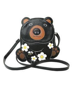 Look at this #zulilyfind! Sleepyville Critters Black Bear Crossbody Bag by Sleepyville Critters #zulilyfinds