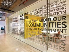 Spell your brand values out on your meeting room glass - office interiors, interior design, interior graphics, signage, glass decals, glass vinyl, window graphcis
