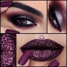 Perfecto pero sin el arete crazy for make-up makeup, beauty Glam Makeup, Eyeshadow Makeup, Makeup Art, Makeup Tips, Beauty Makeup, Hair Makeup, Gray Eyeshadow, Younique Eyeshadow, Makeup Lessons