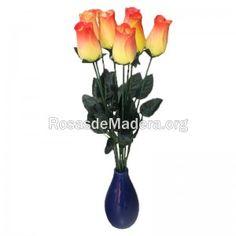 rosa-amarilla-naranja Plants, Wooden Flowers, Yellow Roses, Orange, Plant, Planets