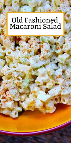 Sharing an Old Fashioned Macaroni Salad recipe - absolutely a family favorite for so many years. Best macaroni salad for barbecues. Classic Macaroni Salad, Best Macaroni Salad, Vegetarian Recipes, Cooking Recipes, Healthy Recipes, Side Dish Recipes, Dinner Recipes, Picnic Recipes, Cocktail Recipes